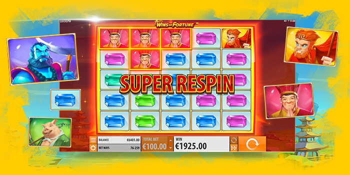 Machine à sous Quickspin Wins of Fortune