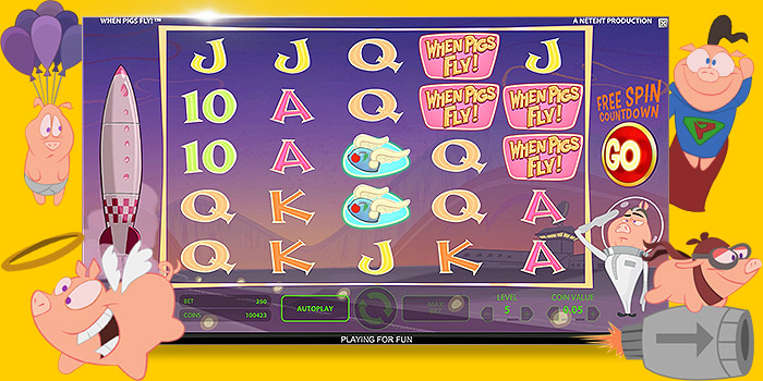 Jeux de casino gratuit : Machine à sous NetEnt When Pigs fly