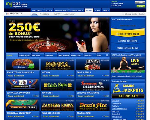 casino lobby mybet gratuit